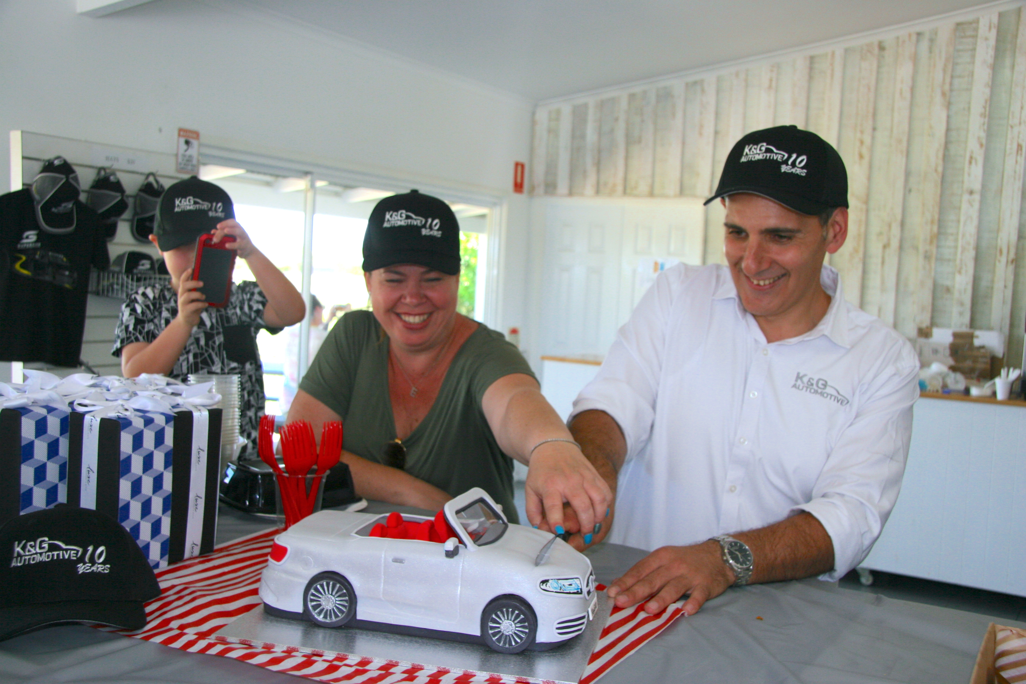 K & G Automotive Lotus Driving Experience Cake Cutting