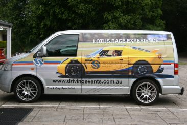 K & G Automotive Lotus Driving Experience Van